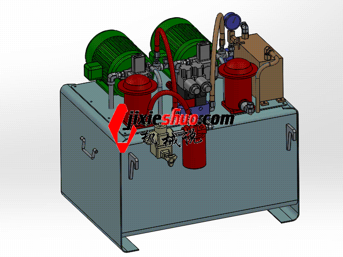 测试机液压站 aace2005 solidworks 3D图纸 三维模型