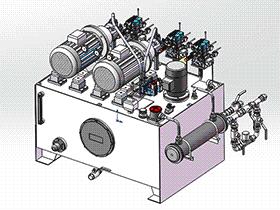 钢包加揭盖液压站 aace2006 solidworks 3D图纸 三维模型