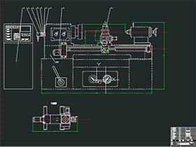 C616数控车床改造 BYBA004 DWG 毕业设计 论文 计算说明书