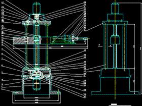 三自由度圆柱坐标型工业机器人设计(论文+DWG图纸) BYDB001