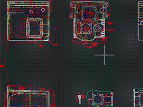 汽车变速箱加工工艺及夹具设计(毕业设计) BYEA0006 dwg CAD图纸 三维模型