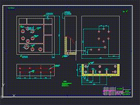 _汽车变速箱壳体钻孔组合机床(夹具设计+组合机床设计) BYEA0007 dwg CAD图纸 三维模型