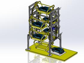 立体循环式停车库3D图纸G40 CVCA2001 模型