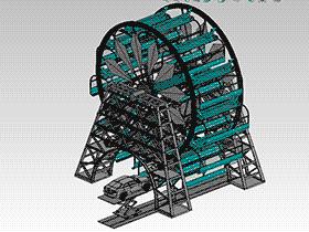 旋转立体车库3D图纸 F627 CVCA2003