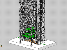 超多层垂直升降立体车库3D图纸 H531 机械设计参考资料设计素材 CVCA2005