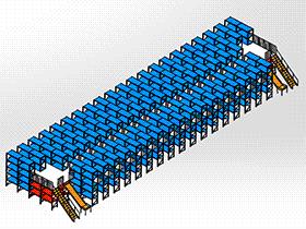 阁楼货架 GTAB2008 solidworks格式 3D图纸 三维模型