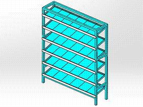 货架料架 GTAB2009 solidworks格式 3D图纸 三维模型