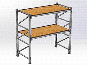 _重类货架 GTAB2010 solidworks格式 3D图纸 三维模型
