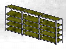 物料架 GTAB2011 solidworks格式 3D图纸 三维模型