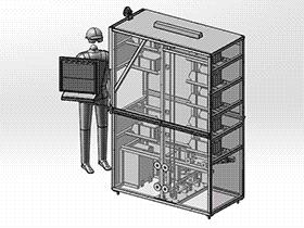 小型自动存储立体仓库 gtah1002 solidworks 图纸 三维模型