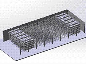 全自动立体仓库 gtah1003 solidworks 图纸 三维模型
