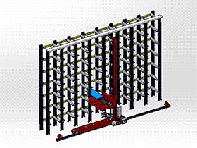 立体仓库 gtah2002 solidworks 图纸 三维模型