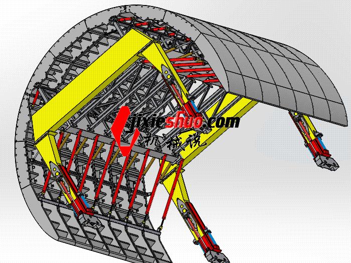 隧道模板台车 gtak1007 通用格式 3D图纸 三维模型