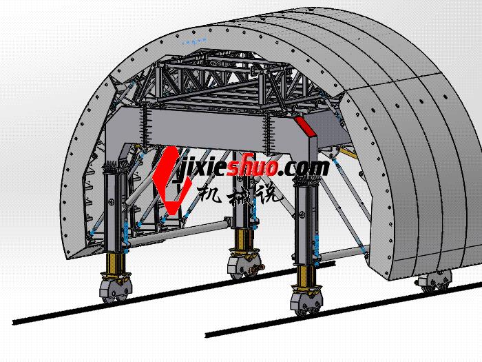隧道模板台车 gtak1008 通用格式 3D图纸 三维模型