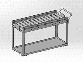 带滚筒的移动台车 gtak2001 solidworks 3D图纸 三维模型