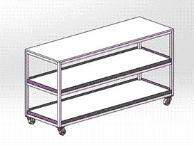 工作组装车 gtak2003 solidworks 3D图纸 三维模型