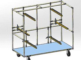 精益管台车 gtak2004 solidworks 3D图纸 三维模型