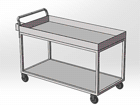 手堆车图纸 gtak2005 solidworks 3D图纸 三维模型