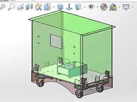 无人台车AGV gtak2007 solidworks 3D图纸 三维模型