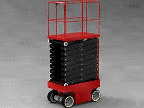 剪叉式升降机_F461 GTLB1001 solidworks  3D图纸 三维模型