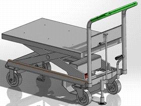 丹迪升降车液压剪式 升降机 GTLB2002 solidworks  3D图纸 三维模型