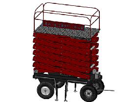 四轮移动式液压升降台 GTLB2004 solidworks  3D图纸 三维模型