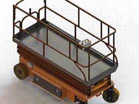 升降小车 GTLB2005 solidworks  3D图纸 三维模型