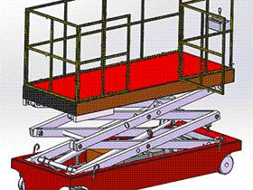 液压升降台 GTLB2006 solidworks  3D图纸 三维模型