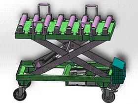 带无动力输送式-剪刀叉液压升降平台 GTLB2007 solidworks  3D图纸 三维模型
