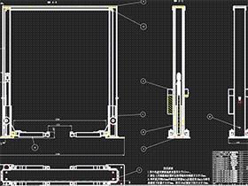 汽车升降机 龙门举升机 GTLD0001 solidworks  3D图纸 三维模型