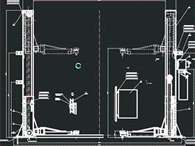 汽车升降机 双立柱举升机 GTLD0002 solidworks  3D图纸 三维模型