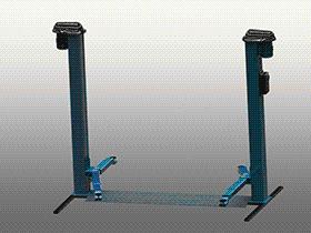 双立柱汽车升降机 GTLD2002 solidworks  3D图纸 三维模型