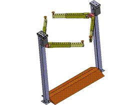 双立柱汽车升降机 GTLD2003 solidworks  3D图纸 三维模型