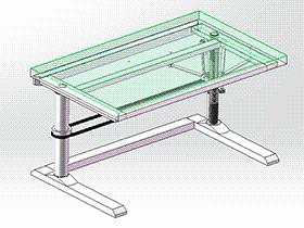 螺杆升降桌 gtlh1001 solidworks 3D图纸 三维模型