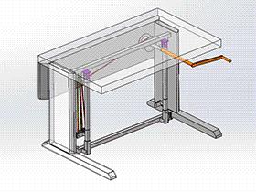 皮带升降桌 gtlh1002 solidworks 3D图纸 三维模型