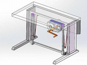 齿轮皮带升降桌 gtlh1003 solidworks 3D图纸 三维模型