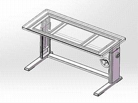 可调节升降工作台 gtlh1004 solidworks 3D图纸 三维模型