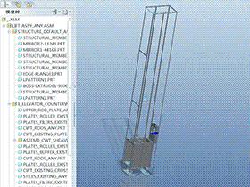 电梯升降原理 GTLL1002 solidworks 3D图纸 三维模型