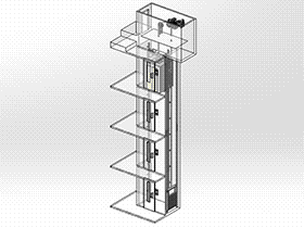 厢式电梯 GTLL1004 solidworks 3D图纸 三维模型