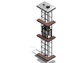 电梯 GTLL1005 solidworks 3D图纸 三维模型