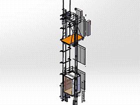 井道电梯轿厢架机构 gtll2002 solidworks 3D图纸 三维模型