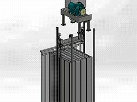 电梯轿厢 gtll2003 solidworks 3D图纸 三维模型