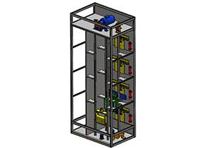 单控4层电梯 gtll2004 solidworks 3D图纸 三维模型