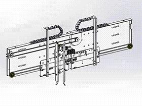 电梯门机机构(中分800门机) gtll2005 solidworks 3D图纸 三维模型