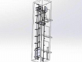 井道电梯轿厢架机构 gtll2009 solidworks 3D图纸 三维模型