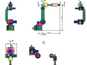 6轴机器人 rbaa0001 solidworks CAD工程图 三维模型