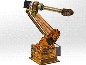 焊接工业6轴机器人 带工程图 RBAA2001 solidworks 3D图纸 三维模型