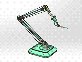 简单的喷枪机器人手臂 RBAA2004 solidworks 3D图纸 三维模型