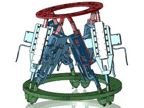 史都华Stewart六轴工作平台 RBAD2002 solidworks  3D图纸 三维模型