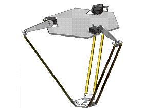 简易并联机器人结构 RBAD2004 solidworks  3D图纸 三维模型